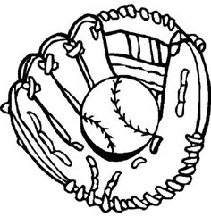 Baseball Coloring Sheet | Coloring Pages, Clip Art, Etc ...