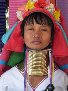 This is a photograph of a woman from Thailand wearing a neck ring. She is part of a Kayan tribe that has a long tradition of women wearing neck rings. Wilson illustrates the concept that [adornment] plays a symbolic and meaningful role in all societies especially in early societies where body painting, tattoos, and neck bands were used to surpass the body's restrictions (Wilson 3). The tradition of wearing neck rings is a [representation] of the Kayan's culture, beauty, and attractiveness…