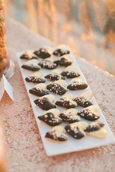 Chocolate-Dipped, Heart-Shaped Cookies | ONELOVE PHOTOGRAPHY | SO HAPPI TOGETHER | MCAKES SWEETS | http://knot.ly/6495Bxje1 | http://knot.ly/6491Bxjez