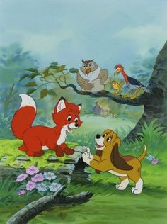 The Fox and the Hound, one Disney movie that I will always cry while watching! Shane and I watch this all the time together. I'm lucky it's one of him faves. too!