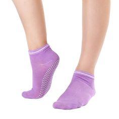 Women's Fitness Pilates Socks Colorful Durable Dance Ankle Grip Exercise Printed Letter Socks