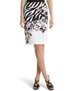 Zebra/Floral Pencil Skirt