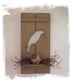 Primitive crow shelf by Wildoaks on Etsy, $29.95