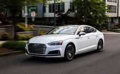 Lataa kuva Audi S5 Sportback, 2018, 4k, valkoinen S5, urheilu coupe, uusia autoja, Audi
