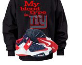 Women's NY Giants Sports Pullover Hoodie My Blood Type is..