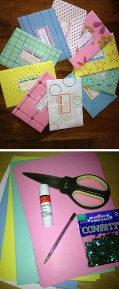 Open When Envelopes | Click Pic for 24 DIY Christmas Gift Ideas for Friends | DIY Christmas Gift Ideas for Women