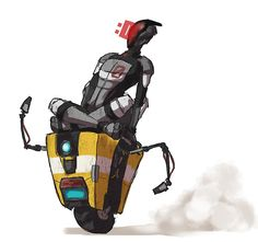 Claptrap and Zer0 by spader7 #borderlands