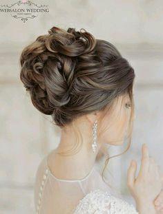 Glamorous Wedding Hairstyles with Elegance wedding hairstyles photo 2019 wedding hairstyle idea; photo: Liliya Fadeeva via Websalon Wedding wedding hairstyles photo 2019 2015 Hairstyles, Elegant Hairstyles, Bride Hairstyles, Hairstyle Ideas, Bridesmaid Hairstyles, Cute Hairstyles For Prom, Curled Updo Hairstyles, Hairstyle Tutorials, Shag Hairstyles
