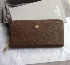 Spring Summer 2015 Mulberry Collection Outlet- Mulberry Tree Zip Around Wallet Khaki Grainy Leather