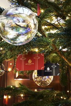 Delightful travel themed decorations • • • Globe Trotter & Brown's Hotel, Christmas 2014