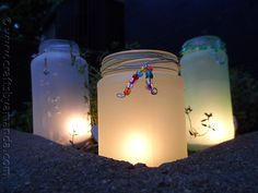 I really love the look of luminaries, especially in the garden. These soft colored luminaries add just the right amount of soft color and light.