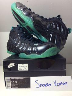 8363fd56e48 Nike Air Foamposite Pro 624041-402 Dark Obsidian Aqua size 10.5  fashion   clothing