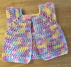 I love designing for babies and I wanted something small, quick and useful. So I came up with this little jacket. It takes approximately 25g of baby DK yarn and I can make one in about an hour. The little jackets that I make are donated to charity for use on maternity wards but They can also be used for little dolls.