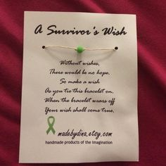 Survivors Wish Bracelet Rope type bracelet, when you tie it on you make a wish and when it falls off your wish shall come true! never worn Jewelry Bracelets