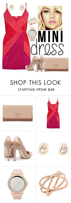 """""""Colour Block"""" by caz-e ❤ liked on Polyvore featuring GUESS, Eres, Rupert Sanderson, Dezso by Sara Beltrán, Lipsy and Michael Kors"""