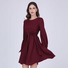 Sisjuly женщины платье бургундия офисная одежда платье с длинными рукавами линии красные платья женщин зима роскошные платья рождество купить на AliExpress