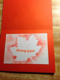 Inside leaf card