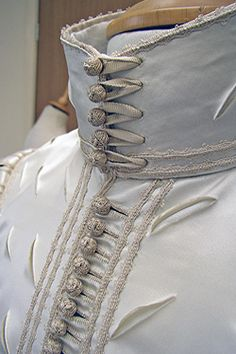 620s suit of apparel made for Perth Museum and Gallery, Scotland. The doublet is a reconstruction of an original in the museum's collection. The breeches are based on a pair on the Victoria and Albert Museum. The buttons and braid were made by Gina Barrett.