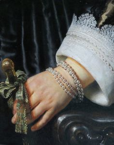 (Detail) Portrait of Maria Trip by Rembrandt van Rijn.