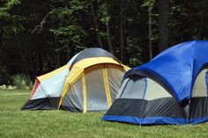 Tents at a North Carolina campground.