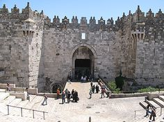 Jerusalem, Israel/Palestine.  Enter the old city of Jerusalem through one of the majestic gates and you can just feel the rich history, culture and faith!