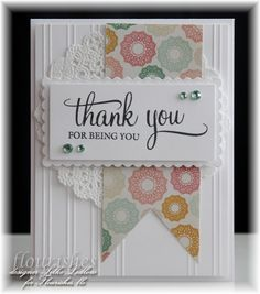 Thank You For Being You #card by Silke Ledlow