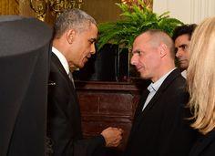 Ολιγόλεπτη συνάντηση Ομπάμα-Βαρουφάκη στον Λευκό Οίκο