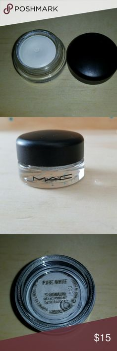 "MAC CHROMALINE PAINT POT  In ""pure White"" Used x2 never reach for it . AUTHENTIC as always . MAC Cosmetics Makeup"