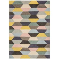 Caladendra Hand Tufted Wool Pastel Yellow/Blue/Grey Rug Metro Lane Rug Size: Runner 70 x Dark Grey Rug, Brown Rug, Black Rug, Blue Grey, Yellow Rug, Pink Rug, Pastel Yellow, Gold Rug, Striped Rug