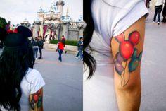 mickey mouse balloon tattoo.