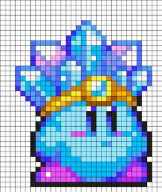 Ice Kirby Perler Bead Pattern