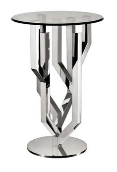 Pedestal Table in Silver Plated, in limited edition to 50, designed by Ora-Ïto.