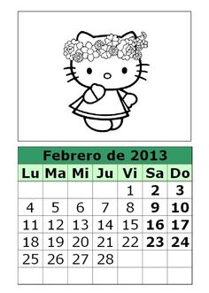 calendario 2013 para imprimir febrero-calendario-febrero-2013-colorear-hello-kitty.jpg