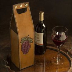 Leather Wine Bottle Carrier Pattern
