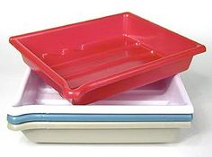 $23.99 - Needed for 8x10 tintypes - Arista Set of 4 Developing Trays - Accommodates 8x10 inch print size - (White/Red/Buff/Green)