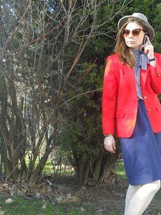 Pendleton blazer/vintage dress SS12