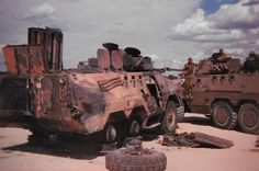 Fucked up Ratel. Once Were Warriors, Brothers In Arms, Defence Force, Tactical Survival, War Machine, Military History, Military Vehicles, Monster Trucks, African