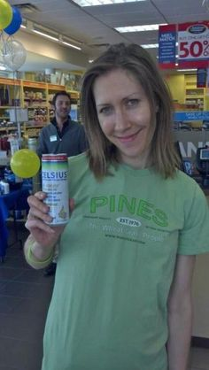 Another smiling face at The Vitamin Shoppe at the Santa Monica, CA location during a tasting event allowing Celsius to interact with guests looking for a pre workout beverage.      Picking up some Celsius coupons for some quick savings