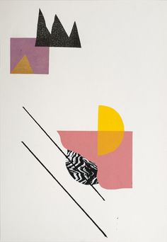 Collage Series #2 - by graphic designer and printmaker based in Berlin, Damien Tran  http://www.damientran.com/