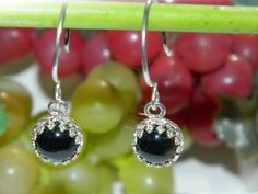 Black Onyx Earrings Sterling Silver Small by JewelrybyDecember67