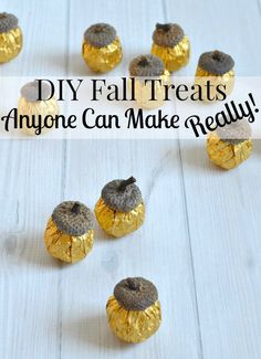 DIY Fall Treats that anyone can make. Really! These party favors are easy to make in minutes and great for getting the kids involved.