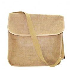 Eco-Friendly Jute/ Burlap Messenger Bag [DS-5143]