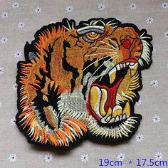 Cabeza del tigre delicado bordado apliques remiendo por DIYsharing