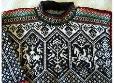Ravelry: Project Gallery for 184 - Lillehammer 1994 pattern by Dale of Norway / Dale Design Fair Isle Knitting Patterns, Sweater Knitting Patterns, Knitting Yarn, Lillehammer, Nordic Sweater, Cool Sweaters, Crochet Clothes, Knitting Projects, Knit Crochet