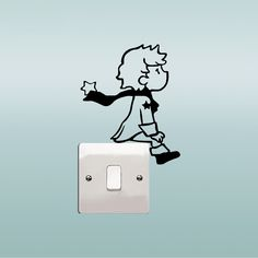 Little Prince Switch Stickers For Children Room Wall Stickers Home DIY 5 Colors(China) Cheap Wall Stickers, Wall Stickers Home, Wall Decals, Simple Wall Paintings, Wall Painting Decor, Disney Princess Coloring Pages, Disney Princess Colors, Wall Decor Crafts, Vinyl Crafts