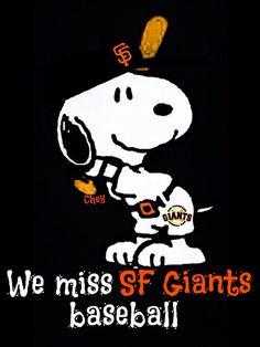 We miss SF Giants baseball