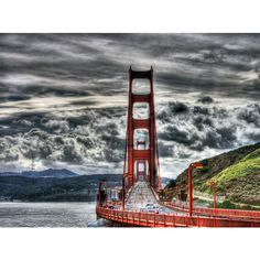 hdr san fransisco brige ❤ liked on Polyvore featuring california