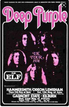 eva peters on imgfave Deep Purple, Jimi Hendrix, The Beatles, Rock Band Posters, Vintage Concert Posters, Tour Posters, Rock Concert, Iron Maiden, Pink Floyd