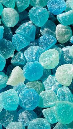 Blauwe snoepjes