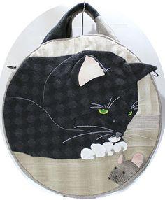 【代購】貝田明美 手提包材料包/貓和老鼠_貝田明美的手提袋材料包 T系列_貝田明美的材料包_名師特區_麻雀屋手藝工坊 | 小蜜蜂手藝世界 | 就是拼布精品